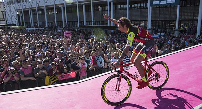 Giro2016 presentation Filippo Pozzato