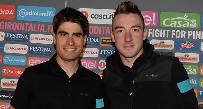Giro 2016 pressekonference Mikel Landa og Elia Viviani