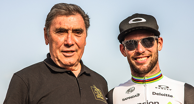 Tour of Qatar 1 etape Mark Cavendish Eddy Merckx