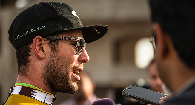 Tour of Qatar 1 etape Mark Cavendish interview
