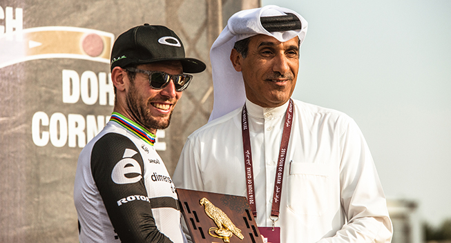 Tour of Qatar 1 etape Mark Cavendish podiet