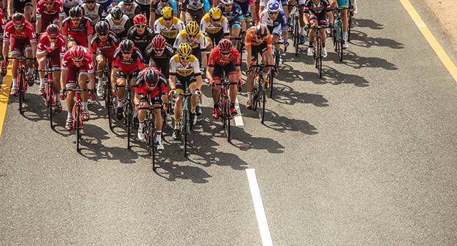 Tour of Qatar 1 etape peloton Katusha BMC