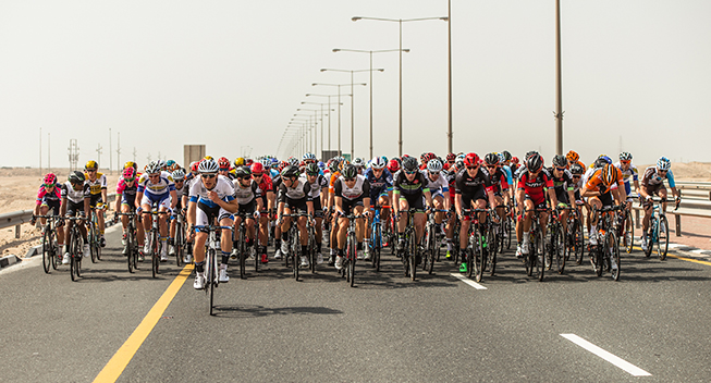 Tour of Qatar 1 etape peloton