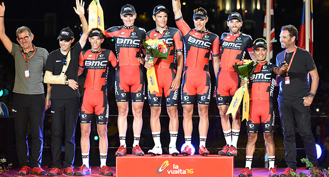 Vuelta2016 21 etape BMC Racing Team podiet holdkonkurrencen