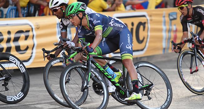 Vuelta2016 21 etape Johan Esteban Chaves i feltet