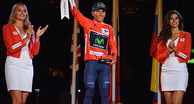 Vuelta2016 21 etape Nairo Quintana podiet samlet vinder