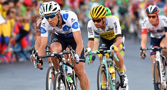 Vuelta2016 21 etape Omar Fraile i feltet