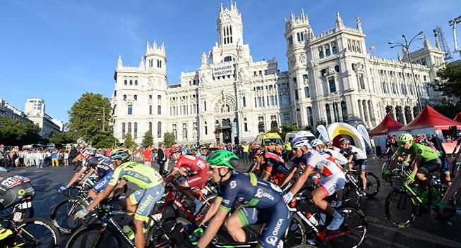 Vuelta2016 21 etape feltet i Madrid