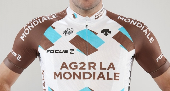 CyclingQuotes.com The AG2R La Mondiale Pro Cycling Team will start the  season with a new jersey. 745a45e31