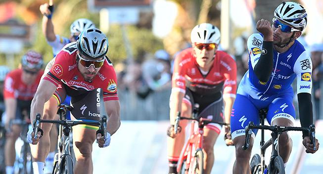 Gaviria slog Sagan i tæt Tirreno-spurt